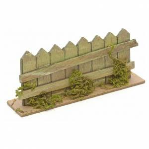 Bridges, streams and fences for Nativity scene: Nativity setting, lake with fence 15x3cm