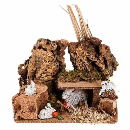 Nativity setting, rabbits in the hole s1