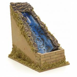 Bridges, streams and fences for Nativity scene: Nativity setting, waterfall with water pump