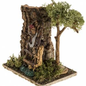 Nativity setting with fruit, ladder and hatchet s3