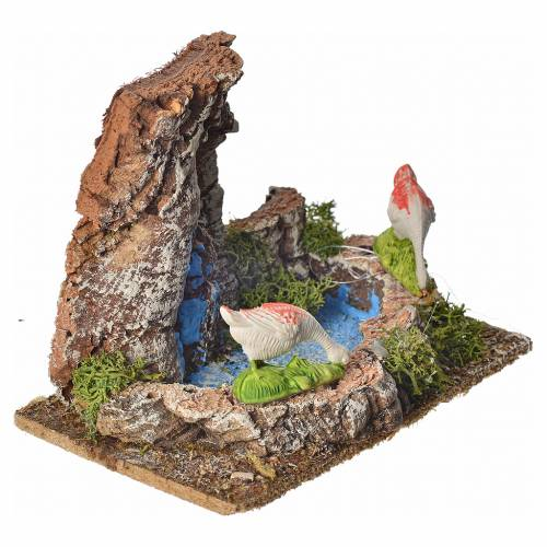 Nativity setting with geese 10cm s2