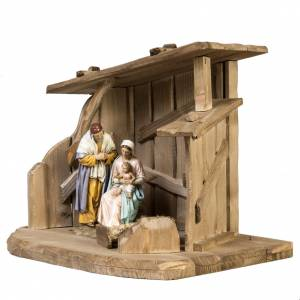 Stables and grottos: Nativity setting, wooden stable 28x38x28cm