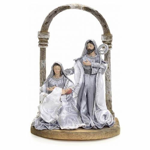 Nativity with arch, 30,5cm, Silver s1