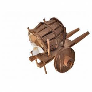 Neapolitan Nativity accessory, cart with cask 5.5x7.5x5.5cm s2