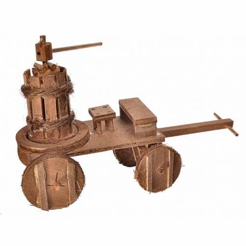 Neapolitan Nativity accessory, cart with press 8x12x7.5cm s1