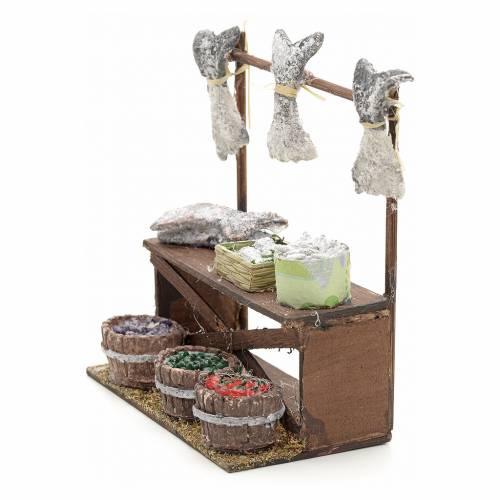 Neapolitan nativity accessory, dried salt cod stall 12cm s3