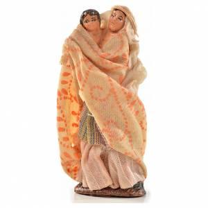 Neapolitan Nativity, Arabian style, woman holding baby 6cm s1