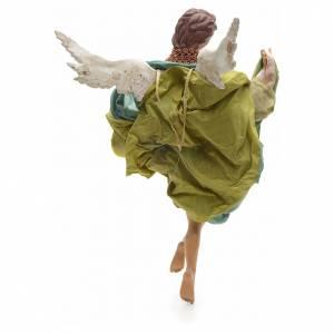 Neapolitan Nativity figurine, green angel, 45 cm s3