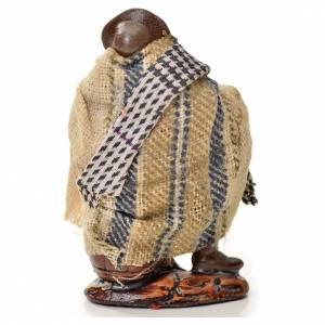 Neapolitan Nativity figurine, man sitting, 6 cm s2