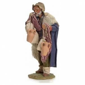 Neapolitan Nativity figurine, man with cloth bags, 24 cm s2