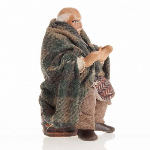 Neapolitan Nativity figurine, Old man 8cm s2
