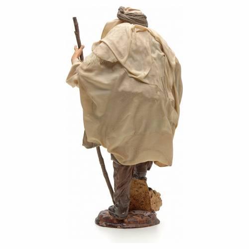 Neapolitan Nativity figurine, shepherd with stick, 30 cm s3