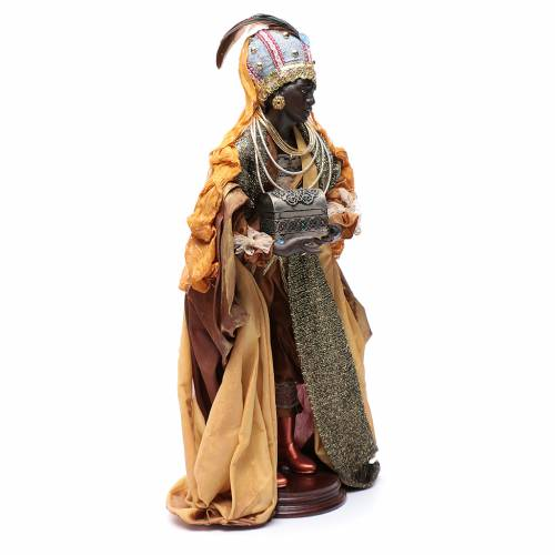 Neapolitan Nativity figurine, three wise kings, 45 cm s5