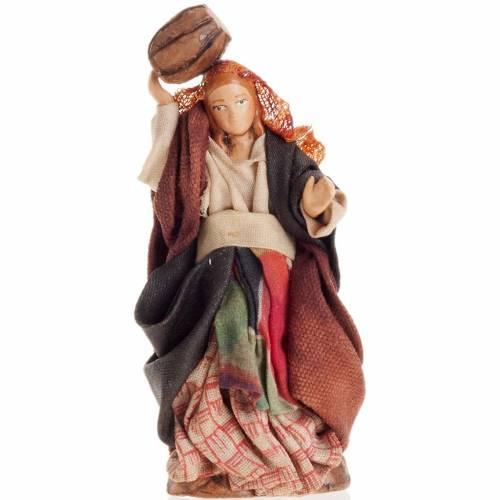 Neapolitan Nativity figurine, Woman with barrel 8cm s1