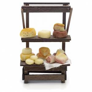 Neapolitan Nativity scene accessory, cured meat and cheese stall s1