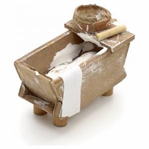 Neapolitan Nativity scene accessory, kneading trough rolling pin s2