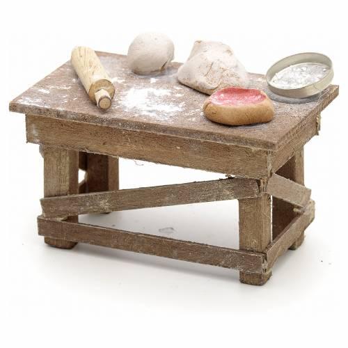 Neapolitan Nativity scene accessory, pizza table s1