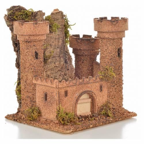 Neapolitan Nativity scene accessory, small cork castle s2