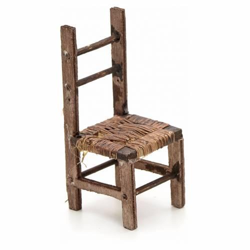 Neapolitan Nativity scene accessory, wicker chair, 10 cm s1