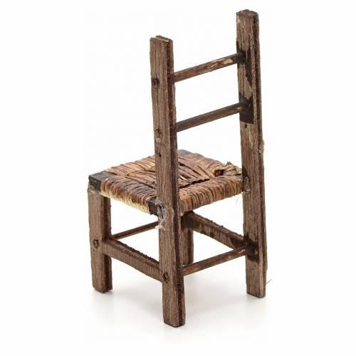 Neapolitan Nativity scene accessory, wicker chair, 10 cm s2