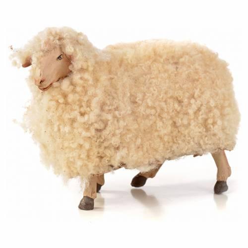Neapolitan Nativity scene figurine, kit, 3 sheep with wool 18 cm s2
