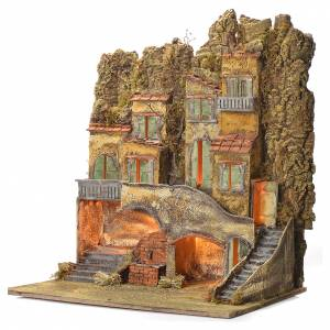Neapolitan Nativity village with fountain 65x56x64cm for 8cm s3