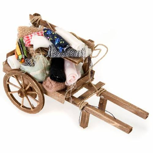 Neapolitan set accessory handcart wood with clothes s1