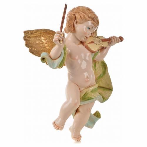 Ángel con violín Fontanini cm. 27 símil porcelana s2
