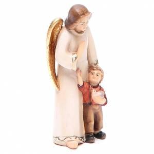 Ángel de la guarda con niño estilo moderno madera s4