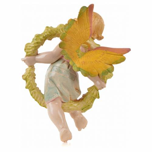 Ángel de la primavera con flores Fontanini cm. 17 símil porcel s2
