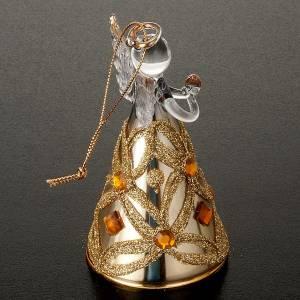 Adornos de madera y pvc para Árbol de Navidad: Ángelito navideño de vidrio.