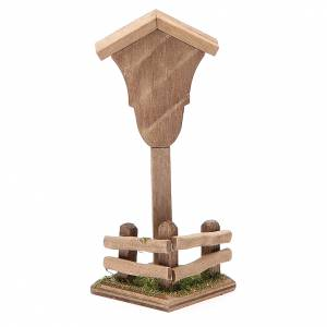 Niche bois Vierge pour crèche 12x4,5x4,5 cm s2
