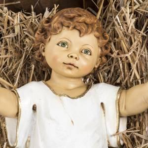 Figuras del Belén: Niño Jesús con cuna de madera 125cm. Fontanini