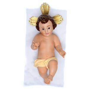 Estatuas del Niño Jesús: Niño Jesús de yeso con corona
