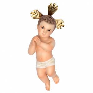 Estatuas del Niño Jesús: Niño Jesús manos juntas 20cm pasta de madera dec.