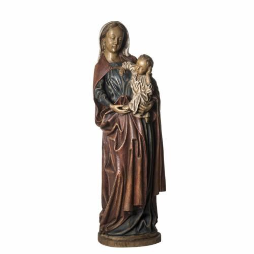 Notre Dame de Boquin statue, 145 cm in painted wood, Bethléem s1
