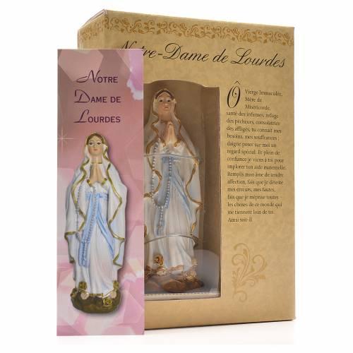 Notre Dame de Lourdes 12cm image et prière Français s3