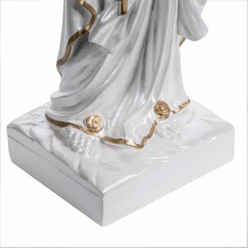 Notre-Dame de Lourdes 60 cm fibre de verre perlée s3