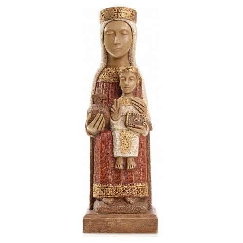 Notre Dame du Pilar 25 cm pierre peinte Bethléem s1
