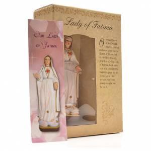 Nuestra Señora de Fátima 12cm con imagen y oración en Ingles s3