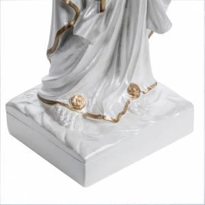 Nuestra Señora de Lourdes nacarada fibra de vidrio dorada s3