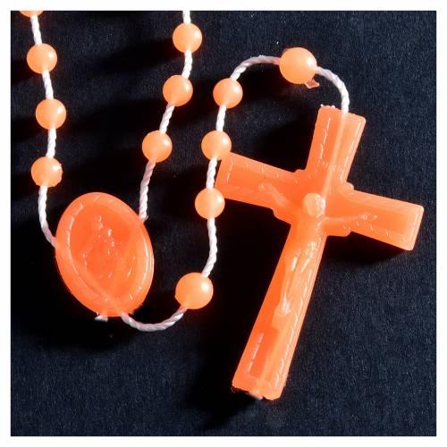 Nylon florescent rosary beads, orange s2