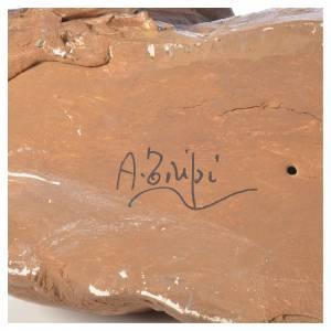 Krippenfiguren von Angela Tripi: Ochse Tripi Angela 30 cm gebrannter Ton