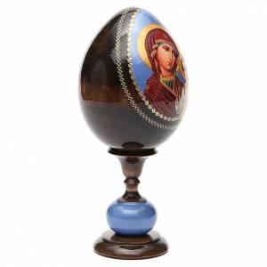 Oeuf icône découpage Russie Kazanskaya h 20 cm s4