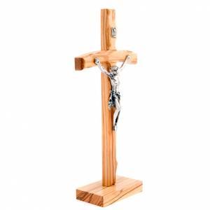 Olive wood curved cross crufix s3