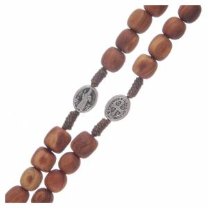 Rosaries and rosary holders: Olive wood Medjugorje rosary with cross 9mm