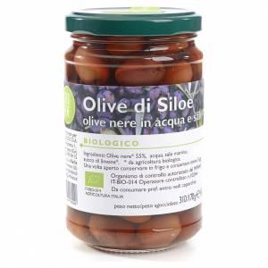 Olives noires eau et sel Monastère Siloe 310g s1