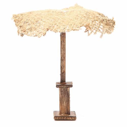 Ombrello juta per presepe 12X10X10 cm s1