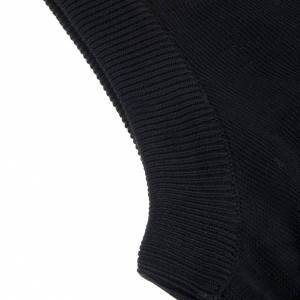 Cardigan jackets: Open sleeveless cardigan, 100% black cotton
