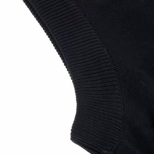 Open sleeveless cardigan, 100% black cotton s2